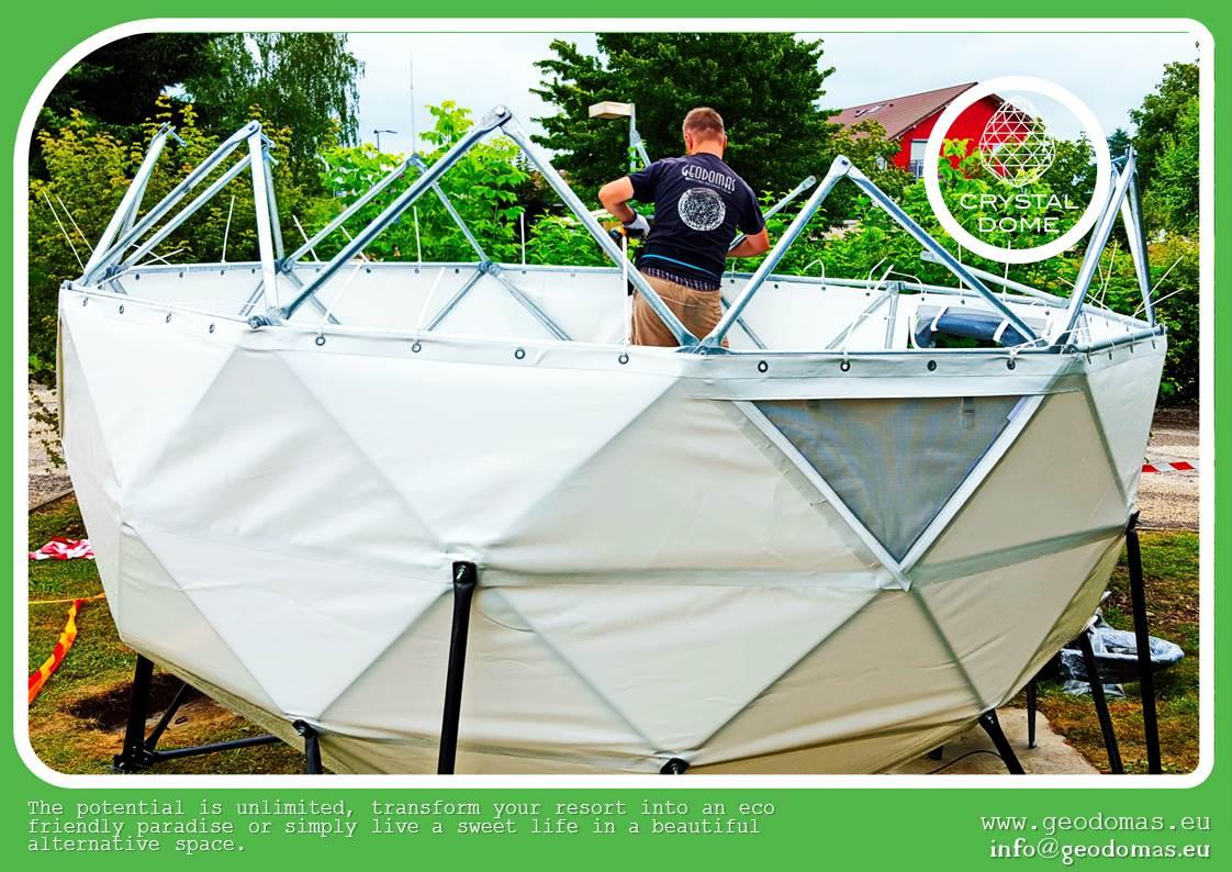Подвесной домик виде KРИСТАЛА | Crystal Dome Ø3м