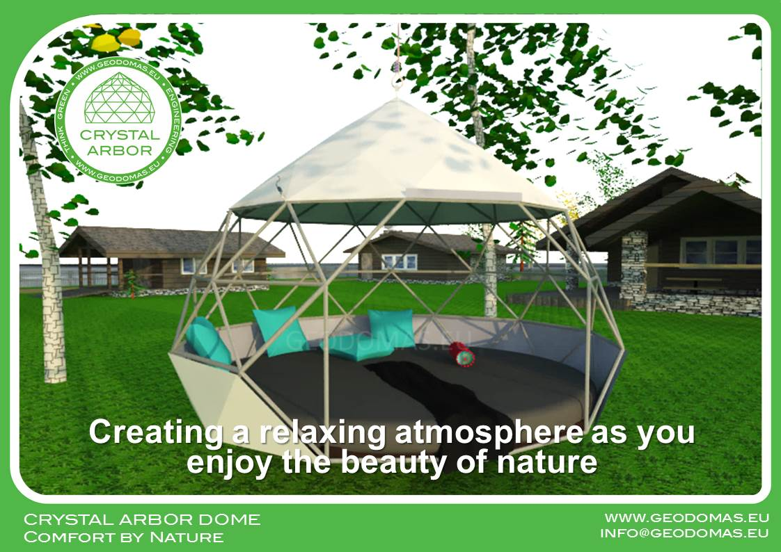 Suspended Lounging  Ø2m Crystal Arbor | Glamping
