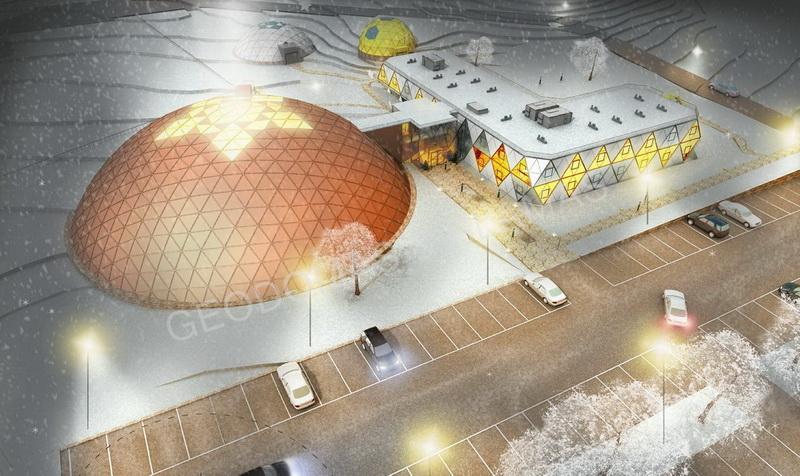 Футуристическая концепция Гостиницы & СПА центра 5☆  | Купола для Бизнеса 3634m2