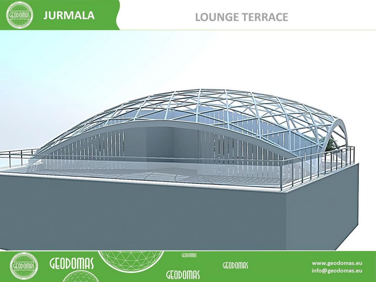 Конструкция геодезического купола для террасы на крыше