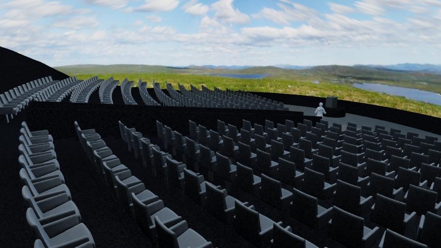 Купола для сферических кинотеатров 360°x180° 7D эффекты