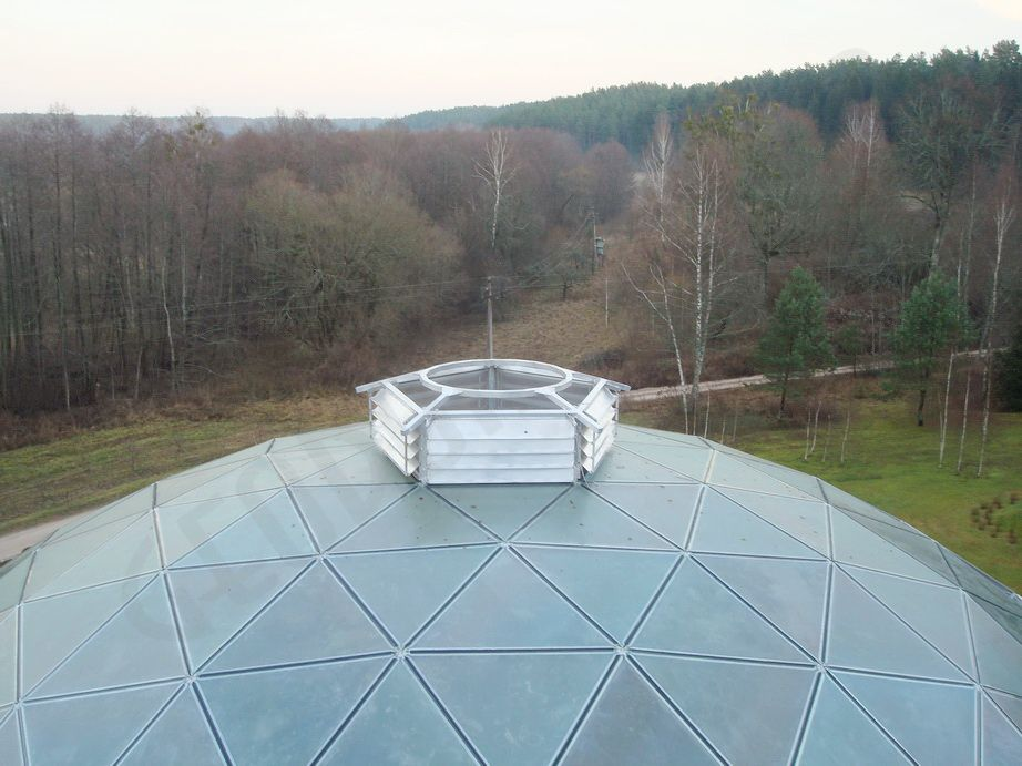Стеклянный купол Ø23м для 14-метровой Пирамиды в Мяркине