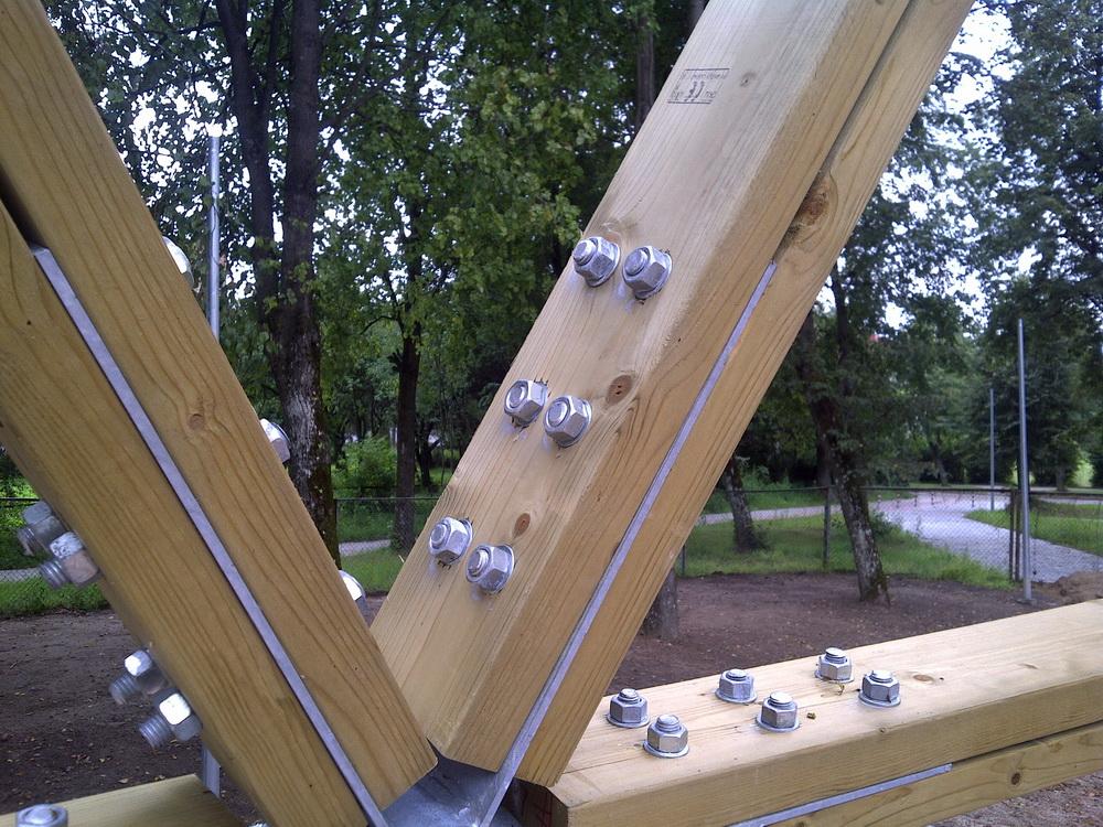 Купол сцены общественного парка Ø15м | Геодезический купол Эстрады, Шальчининкай, Литва