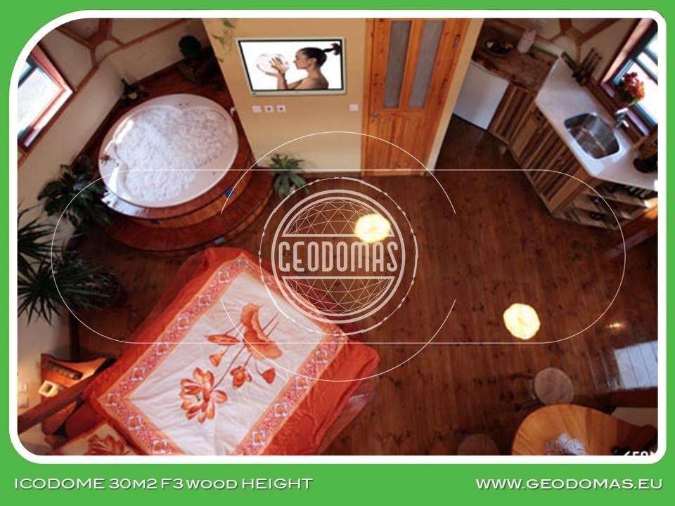 Wood Geodesic Home 30m2 Ø6m
