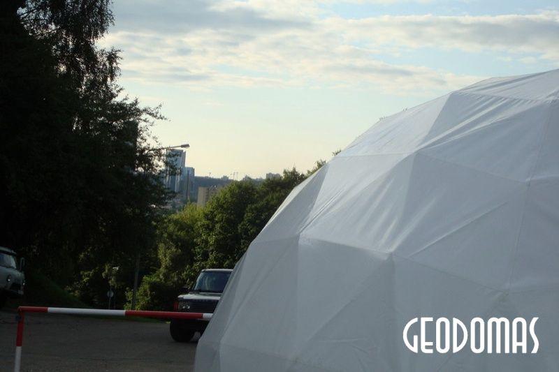 Portable Domes Ø11m & Ø6m for TV3 Season Opening 2008, Vilnius, Lithuania