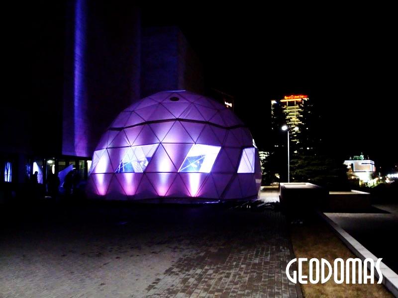 Ø11 м Портативный купол для фестиваля Mode Infection | Вильнюс, Литва
