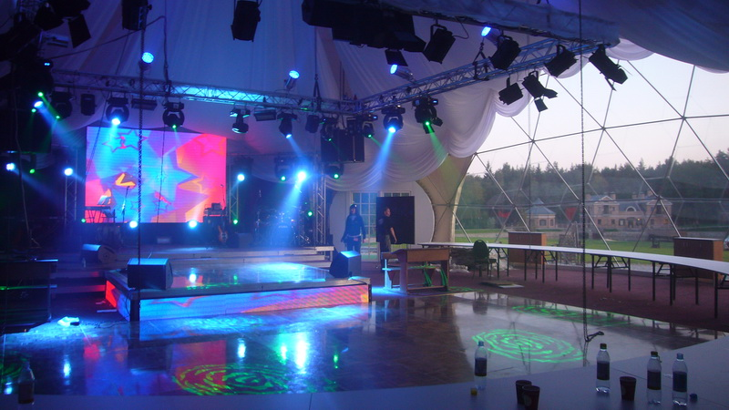 VIP центр для мероприятий 450m2 | Геодезическиe куполa Ø20 & Ø13, Юсине, Литва