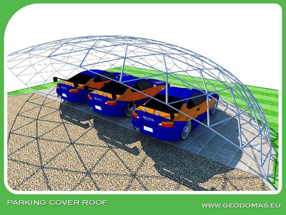 Крыша геодезического купола для автостоянки