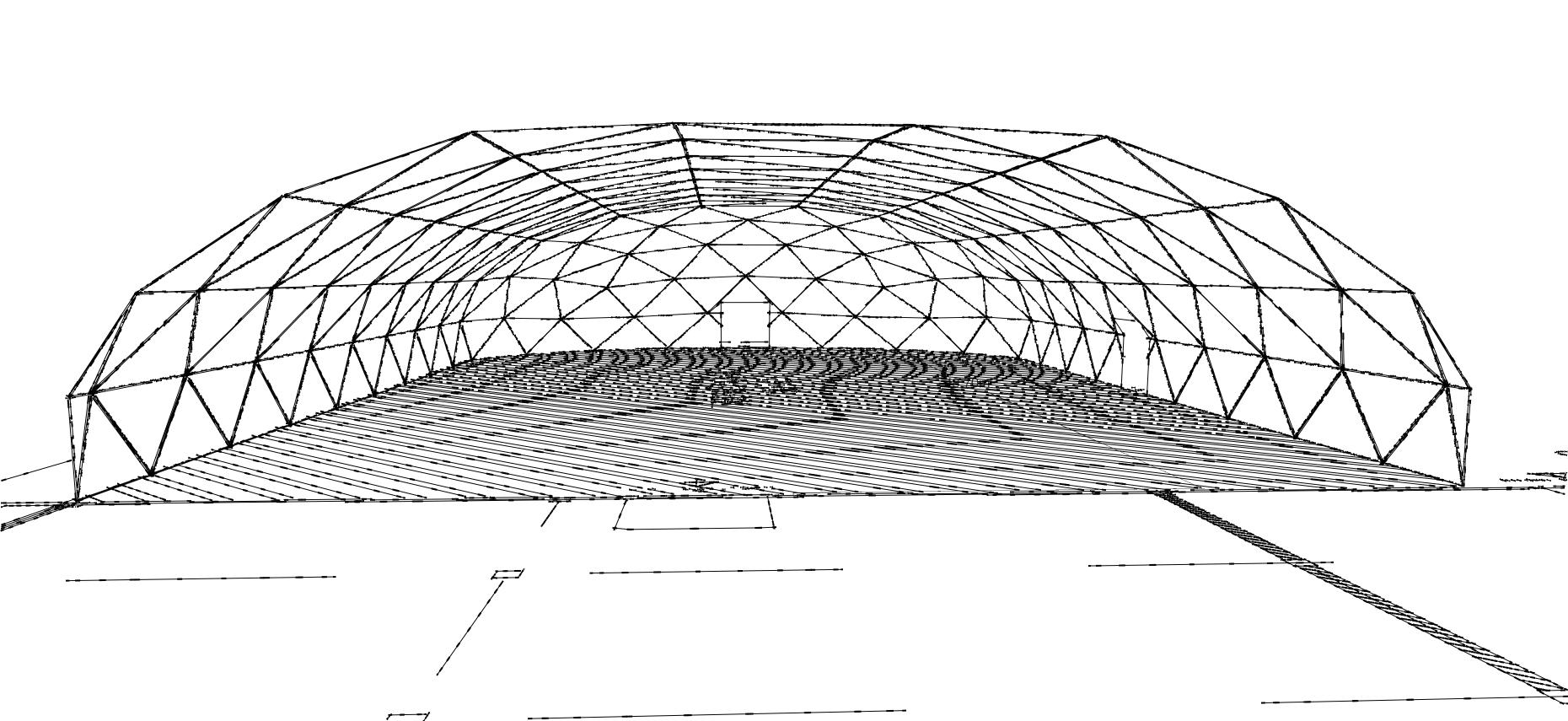 Промышленные купольные ангары и заводские купольные склады
