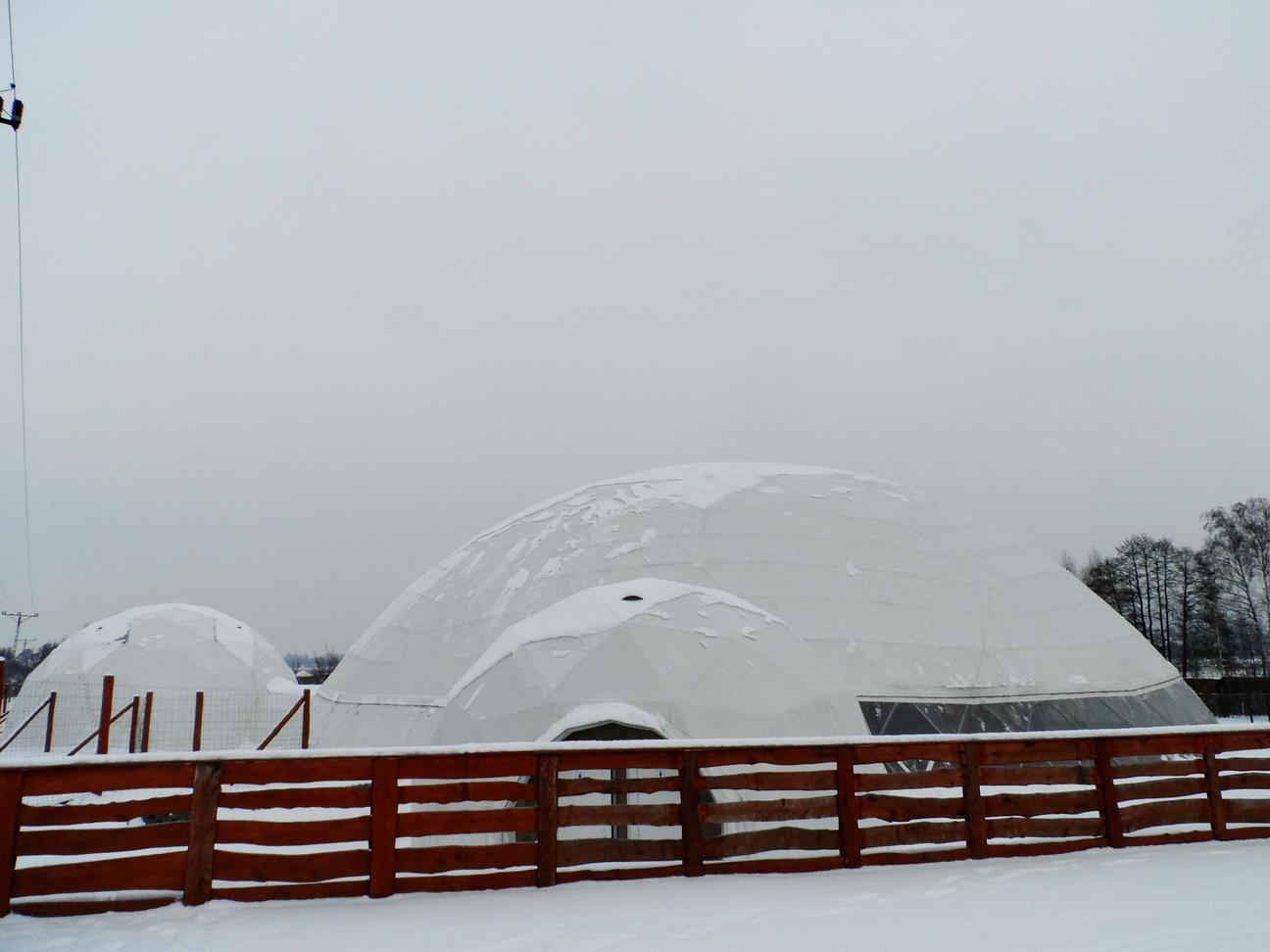 Зоо Сафари зоопарк с куполами Ø34m H12m, Польша