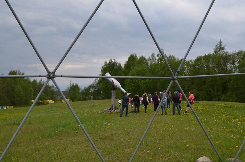 """Наши Купола Ø20м-Ø11м-Ø6м в Парке """"Жалварис"""" около Молетай, Литва"""