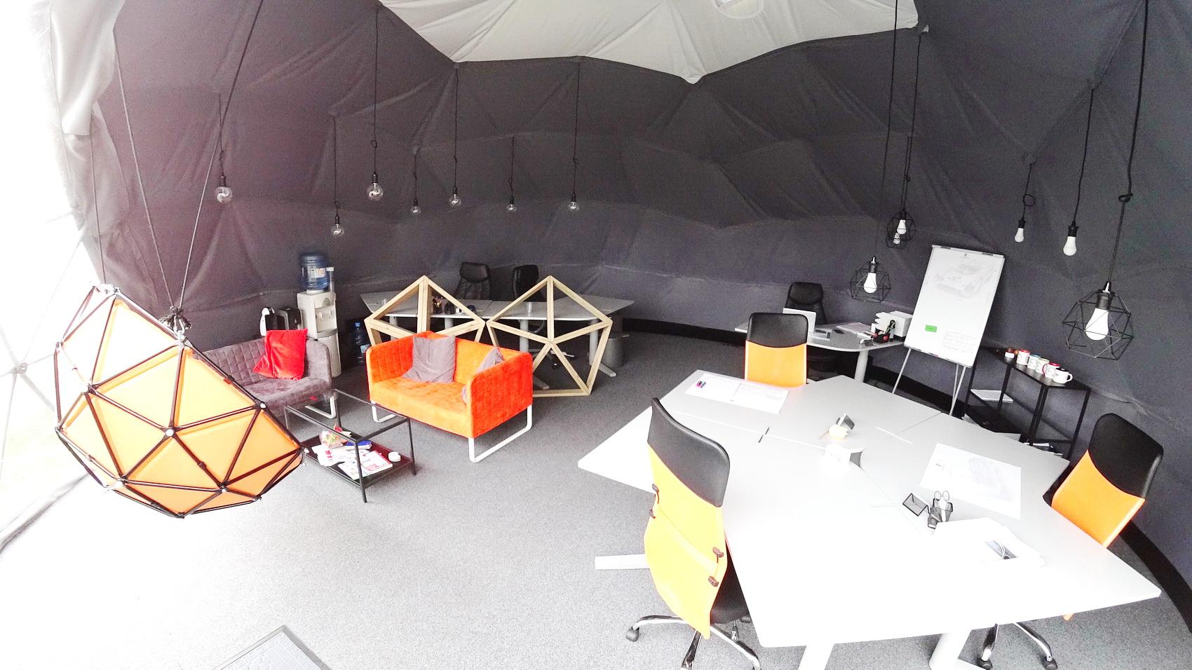 50m² Глампинг Мобильная студия Ø8m |  Купол, Вильнюс, Литва
