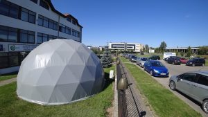 Мобильная студия, Экспозиционный офис 50m2   Геодезический Купол, Вильнюс, Литва