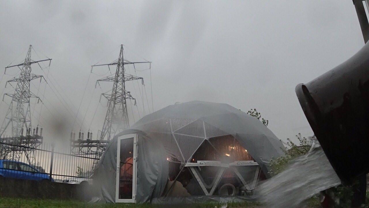 Мобильная студия, Экспозиционный офис 50m2 | Геодезический Купол, Вильнюс, Литва