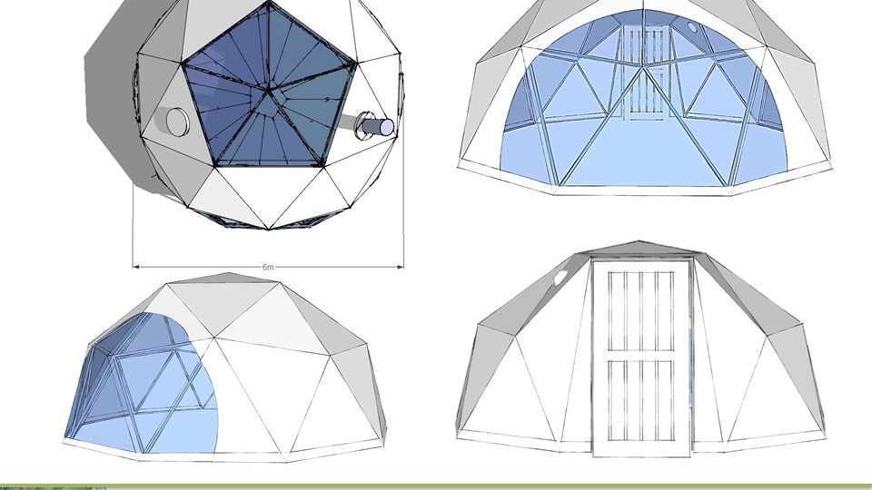 28m2 F2 Glamping Dome eco geodomas 01