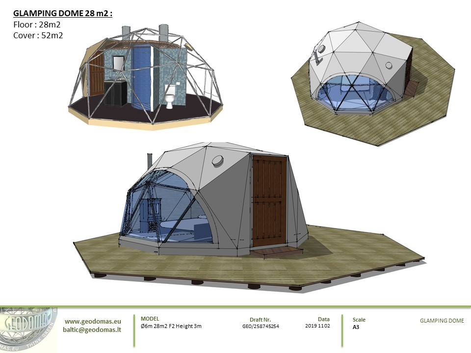 28m2 F2 Glamping Dome eco geodomas 03