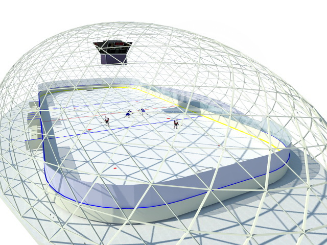 Купол для ЛЕДОВОГО КАТКА Ø16×60м