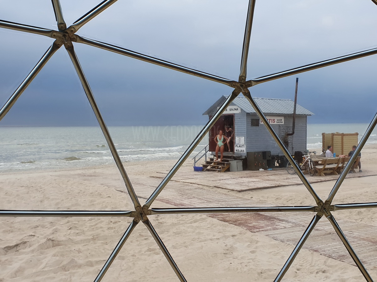 Ø8m F4 H4m Full Glamping Dome | Palanga Life Guard Station, Lithuania