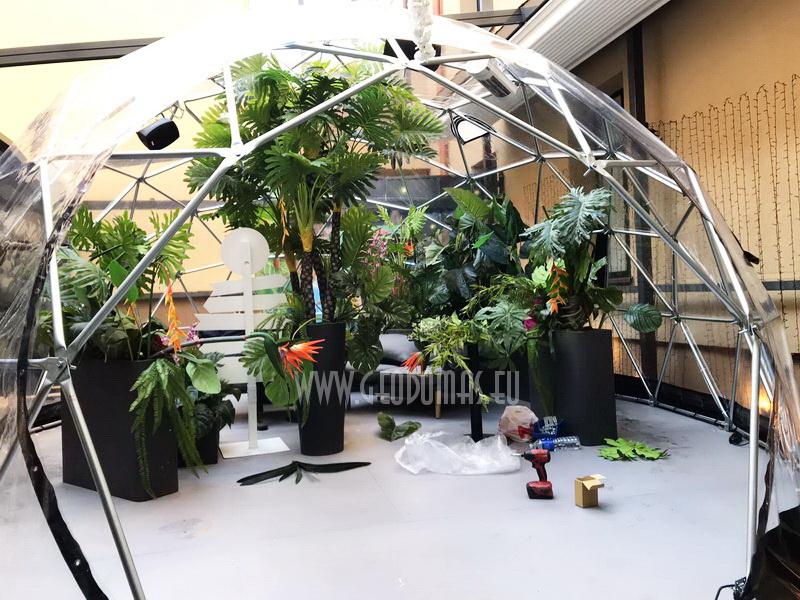 Ø7m Hybrid Dome 32m2 @ Spritz Summer Garden Vilnius