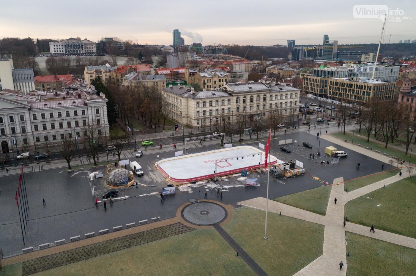 50m² Ø8m Купол Рождественский каток на площади Лукишкес, Вильнюс