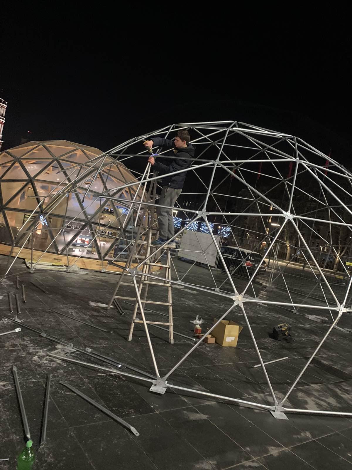 Ø8m Dome @ Christmas ice rink in Lukiškės Square, VIlnius