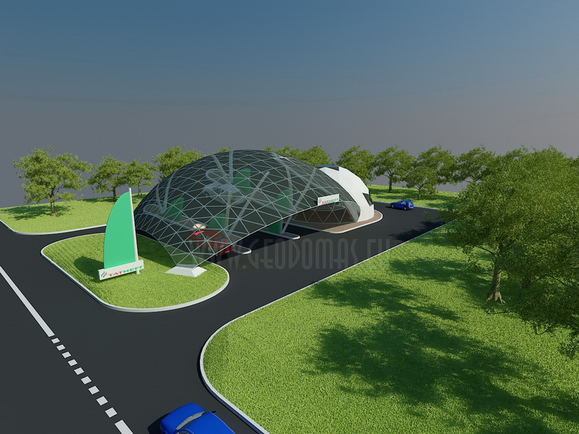 Geodesic Style Gas & Petrol Stations   Unique Designs