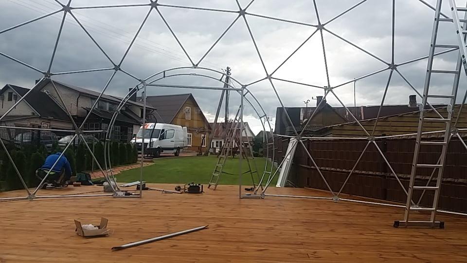 63m2 Picca & Event Dome Ø9m | Picų lobynas, Rūdiškes