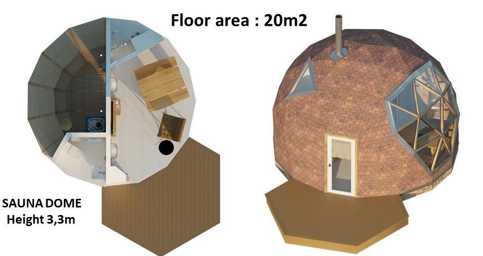 20м2 Ø5м Высота 3,3м Сауна Купол Геодезический Дом