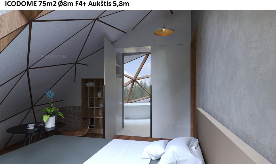 75м2 Ø8м Высота 5,8м Семейный геодезический дом