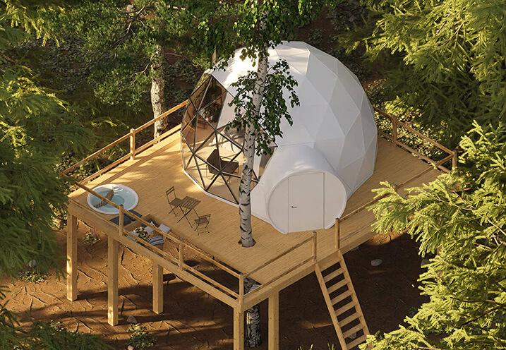 28m2 Ø6m Глемпинг Купол Domaine Ouréa / Eco-lodge & Spa , ФРАНЦИЯ
