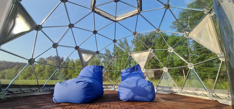 12м2 Ø4м Рыбацкий панорамный купол    Pakaso Sodyba, LT