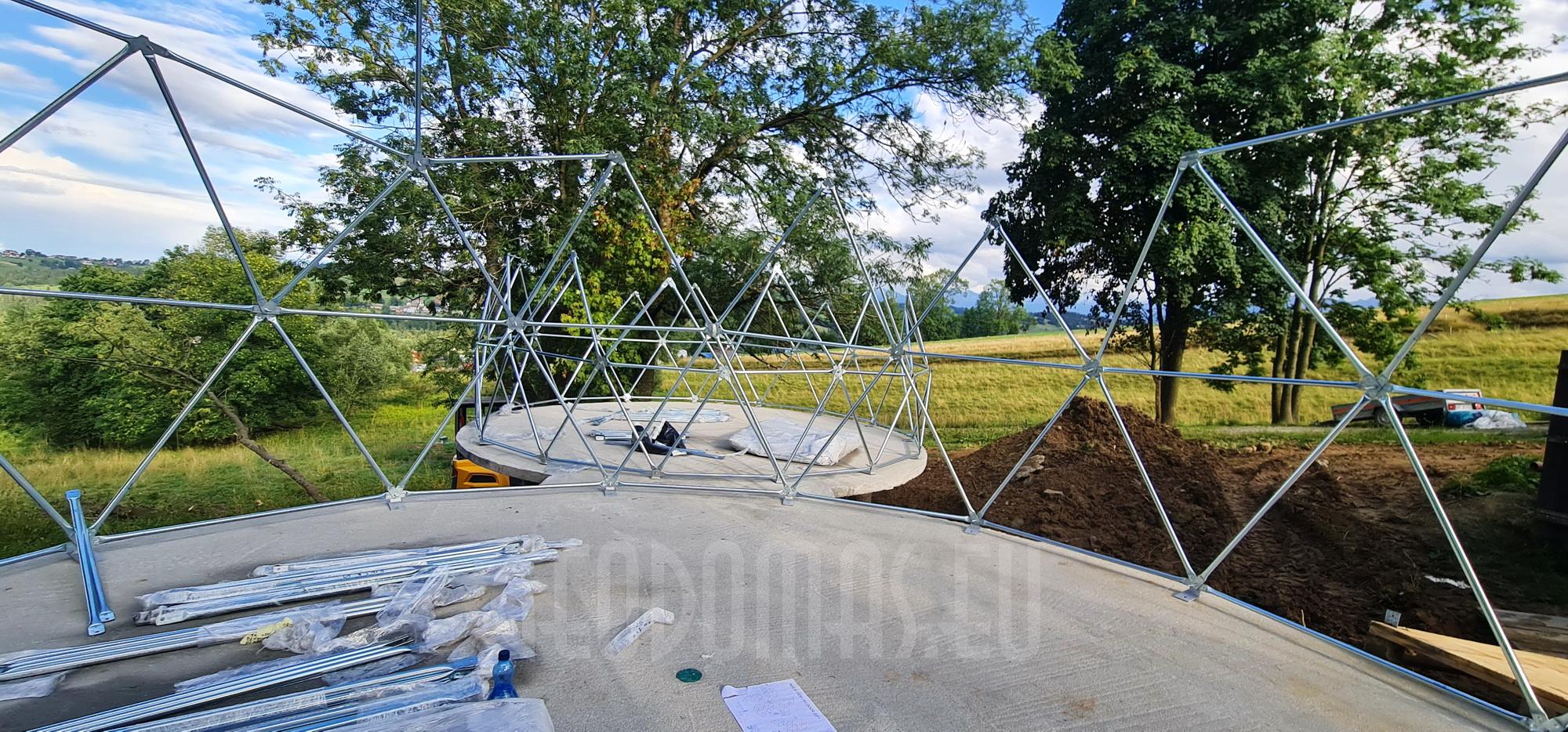 35m²+20m² Glamping SPA Domes Ø6,7m & Ø5m | Zakopane, Poland